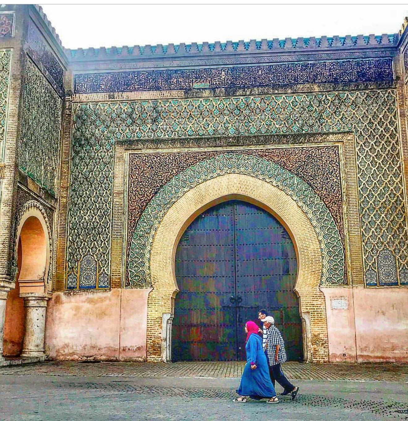 bab el mansour, kapija bab el mansour meknes, meknes, morocco, maroko