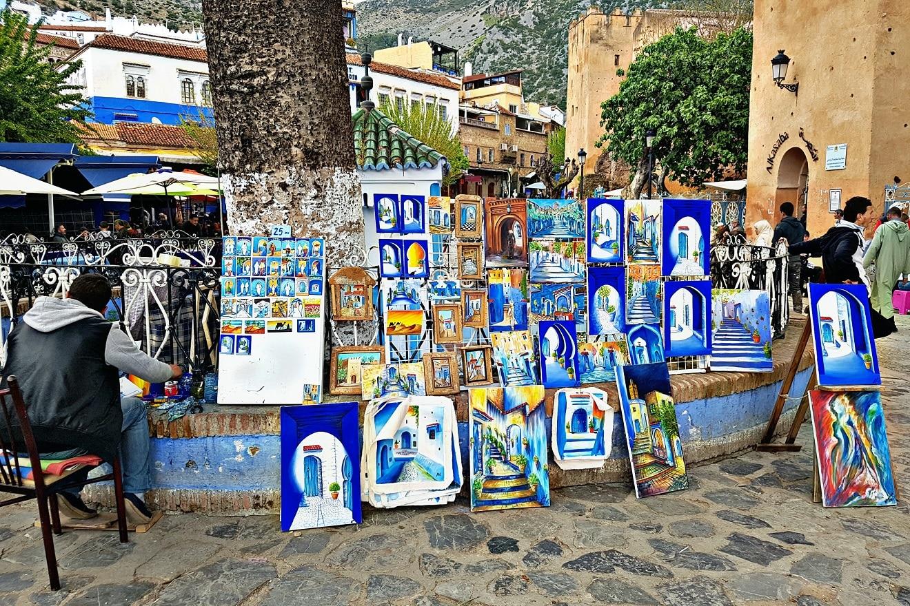 uta el hammam square , chefchaouen , blue city , chaouen , blue pearl