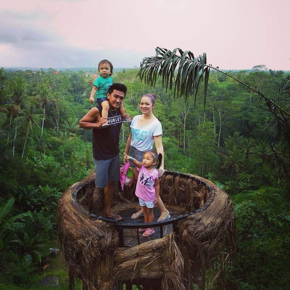 vidikovac, porodica na Baliju