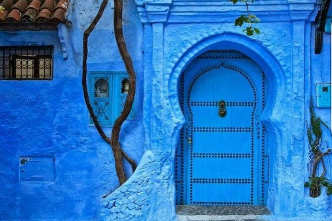 chefchaouen, blue city, blue doors, blue walls, morocco, chaouen